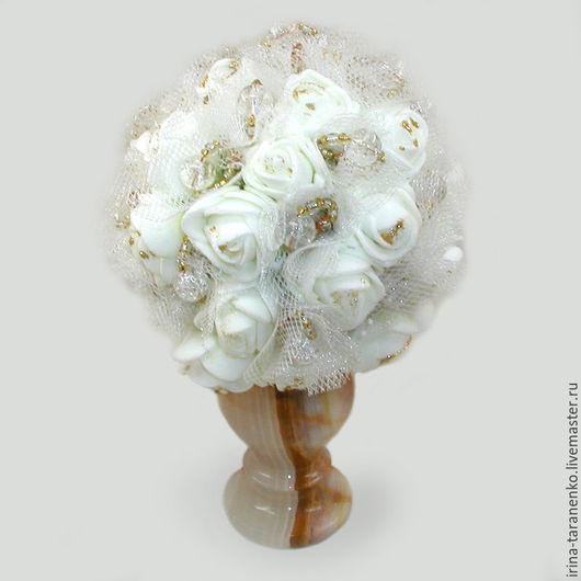 Цветы из горного хрусталя `Хрустальное торжество`