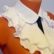 Аксессуары handmade. Livemaster - original item Frill STILE soft flounces / viscose, white/. Handmade.