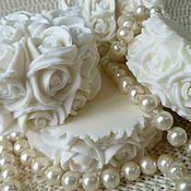 """Косметика ручной работы. Ярмарка Мастеров - ручная работа Натуральное мыло ручной работы """"Белые розы"""". Handmade."""