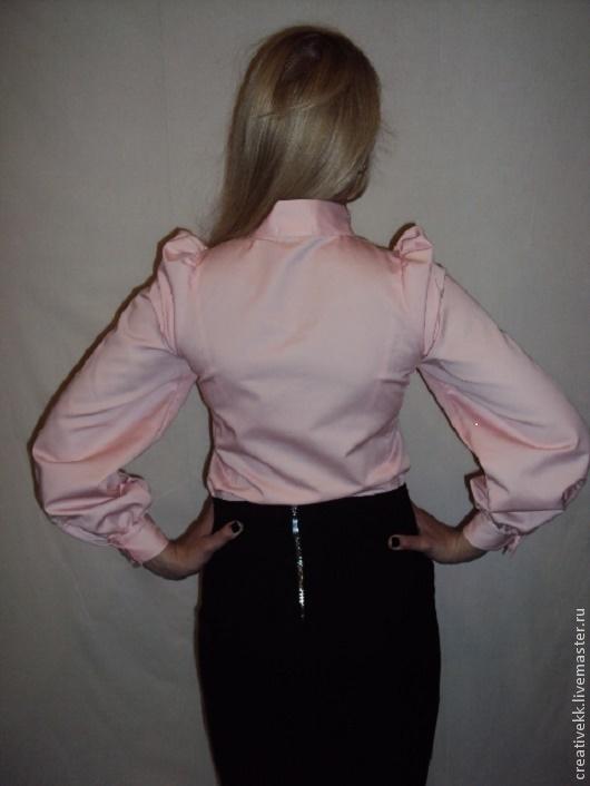 Блузки ручной работы. Ярмарка Мастеров - ручная работа. Купить Блузка/ Рубашка с воротником-стойка.. Handmade. Розовый, блузка женская