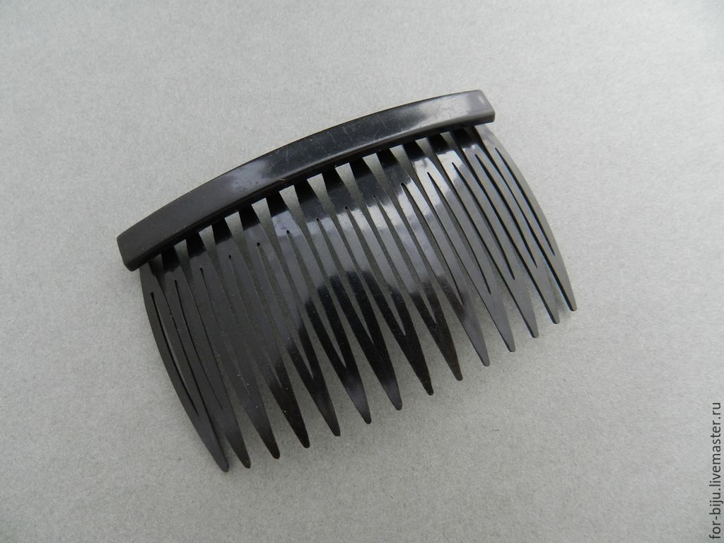 Foundation for comb, material plastic, color black, size 71*46 mm (art. 1550)
