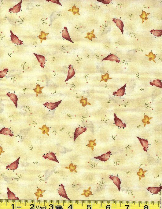 Шитье ручной работы. Ярмарка Мастеров - ручная работа. Купить 1265 Американская ткань. Handmade. Лимонный, ткань с рисунком, ткань