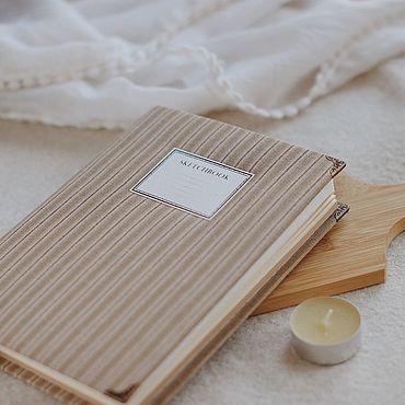 Stationery handmade. Livemaster - original item notebooks: Notebook with cloth cover / A5 / Sketchbook. Handmade.