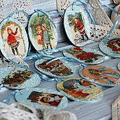 Сувениры и подарки handmade. Livemaster - original item Christmas tree toys New Year medallions. Handmade.