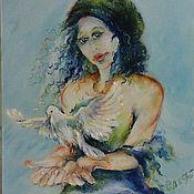 """картина маслом """" Венера,"""" Индийские мотивы 40-50 см"""