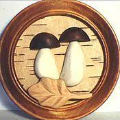 """Картины и панно ручной работы. Ярмарка Мастеров - ручная работа панно """"грибки"""". Handmade."""