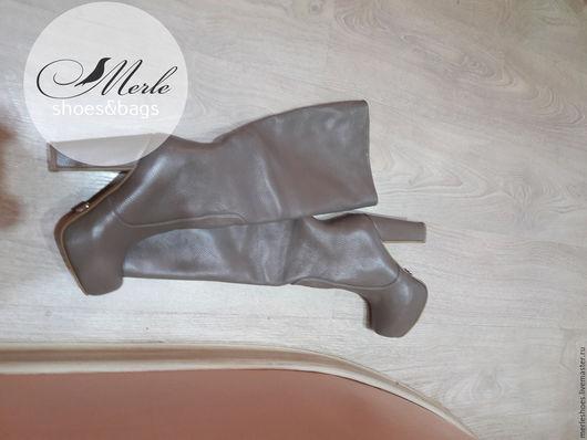 Обувь ручной работы. Ярмарка Мастеров - ручная работа. Купить Сапоги Casual, натуральная кожа, 12 см и 2 см платформа. Handmade.