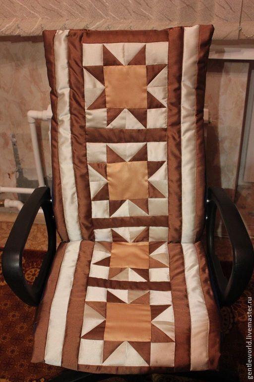 Кухня ручной работы. Ярмарка Мастеров - ручная работа. Купить Чехол для стула. Handmade. Разноцветный, лоскутное шитье, индивидуальный подарок