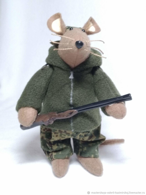 Мышь охотник, Мягкие игрушки, Екатеринбург,  Фото №1