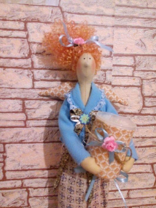 Куклы Тильды ручной работы. Ярмарка Мастеров - ручная работа. Купить Тильда - хранительница ватных палочек. Handmade. Комбинированный, handmade