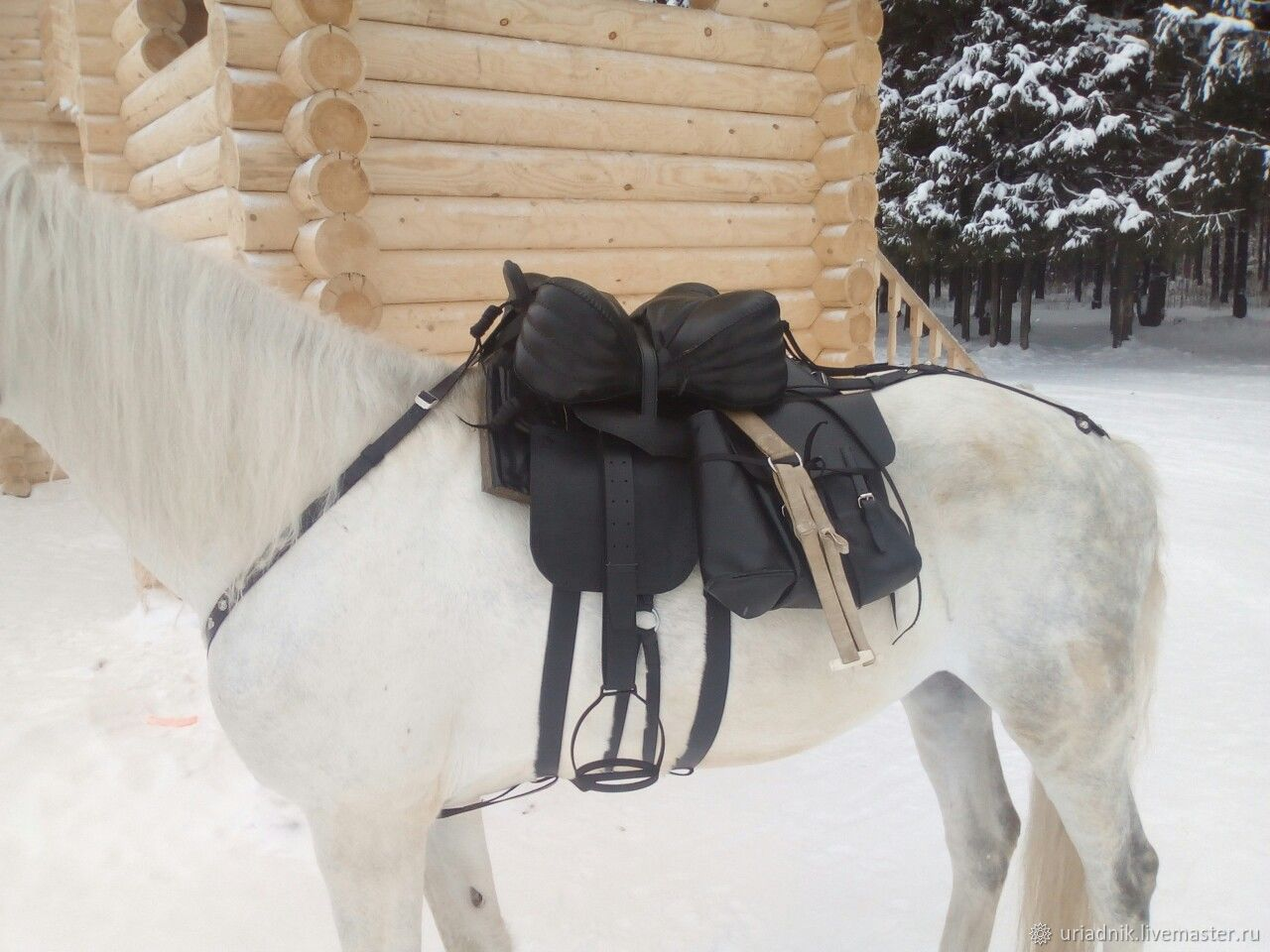 Set of Cossack saddle with a full pack of the sample of 1885, Saddles, Kirov,  Фото №1