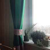 Для дома и интерьера ручной работы. Ярмарка Мастеров - ручная работа Шторы в комнату мальчика зеленые хлопок. Handmade.