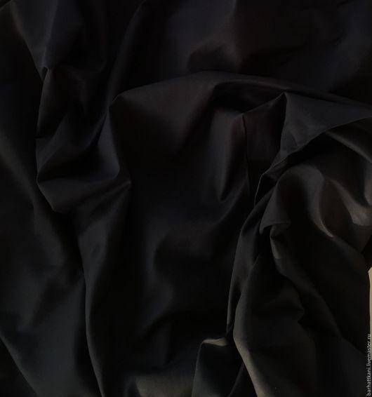 Шитье ручной работы. Ярмарка Мастеров - ручная работа. Купить Итальянский хлопковый сатин. Handmade. Черный, 95% хлопок