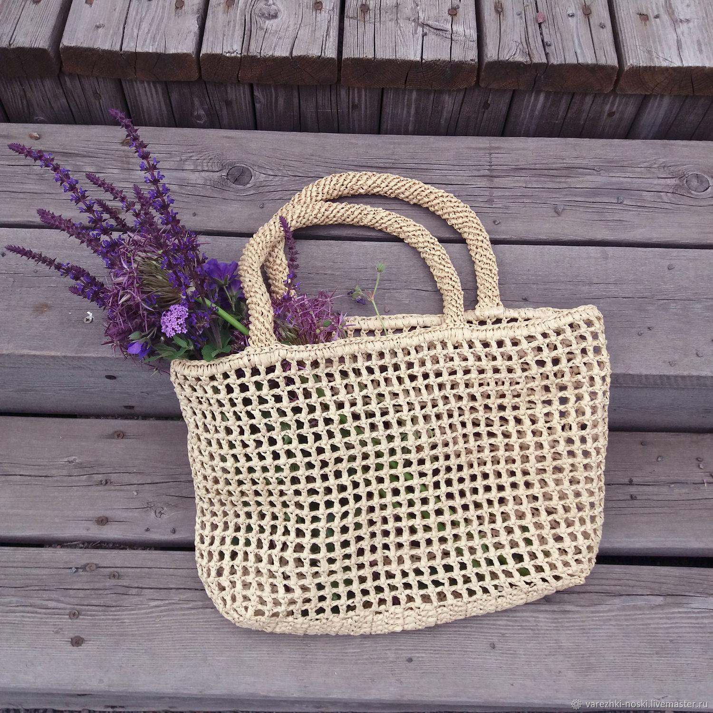 beach bag: The bag: Raffia bag Straw string bag wicker, Beach bag, Moscow,  Фото №1