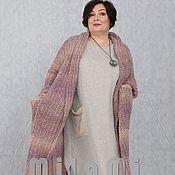 Одежда handmade. Livemaster - original item Chasuble warm chunky knit pink-beige Art.Three thousand seven hundred fifty two. Handmade.