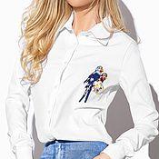 """Одежда ручной работы. Ярмарка Мастеров - ручная работа Блуза """"попугаи"""". Handmade."""