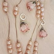Украшения handmade. Livemaster - original item Lampwork Roses-silver 925 Blooming Garden. Handmade.