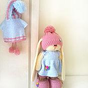 Куклы и игрушки ручной работы. Ярмарка Мастеров - ручная работа Зайка-милашка. Вязаный зайчик в стиле тильда.. Handmade.