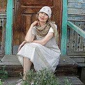 Одежда ручной работы. Ярмарка Мастеров - ручная работа Бохо сарафан льняной. Handmade.