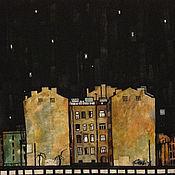 Картины и панно ручной работы. Ярмарка Мастеров - ручная работа Дом на Лиговке. Handmade.