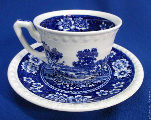Винтажная посуда. Ярмарка Мастеров - ручная работа. Купить Villeroy&Boch Rusticana blue. Чайная пара, антиквариат, винтаж. Handmade.