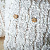 Для дома и интерьера ручной работы. Ярмарка Мастеров - ручная работа Подушка вязаная декоративная Little. Handmade.