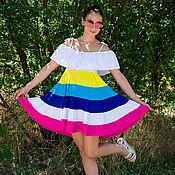 Одежда ручной работы. Ярмарка Мастеров - ручная работа Летное платье, Красивое платье, Коктейльное платье, Платьe бохо. Handmade.