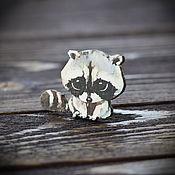Украшения handmade. Livemaster - original item Wooden icon Cute Raccoon. Handmade.