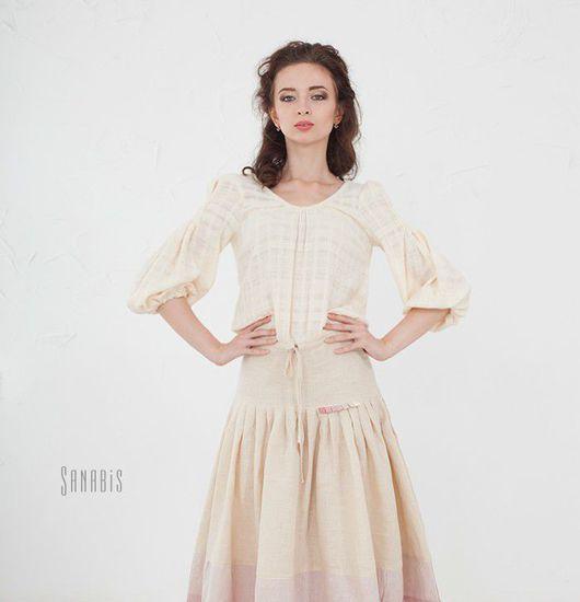 Платья ручной работы. Ярмарка Мастеров - ручная работа. Купить Льняное платье «Мейхуа». Handmade. Платье, бохо стиль