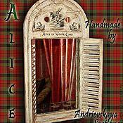 Для дома и интерьера ручной работы. Ярмарка Мастеров - ручная работа Зеркало-ставни Alice in WonderLand. Handmade.