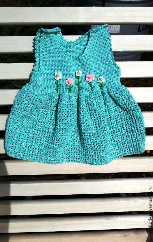 Одежда для девочек, ручной работы. Ярмарка Мастеров - ручная работа. Купить Платье для малышки. Handmade. Мятный, платье для девочки