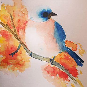Картины и панно ручной работы. Ярмарка Мастеров - ручная работа Картины: Птичка весной. Handmade.