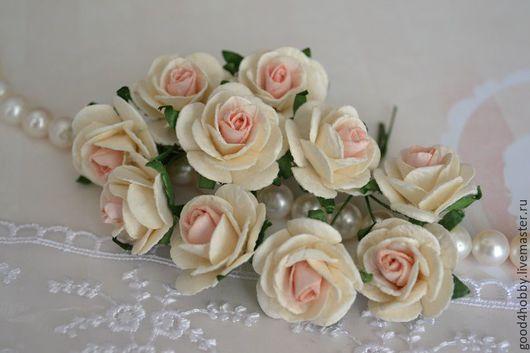 Открытки и скрапбукинг ручной работы. Ярмарка Мастеров - ручная работа. Купить Розы 2,5 см, 5 видов. Handmade.