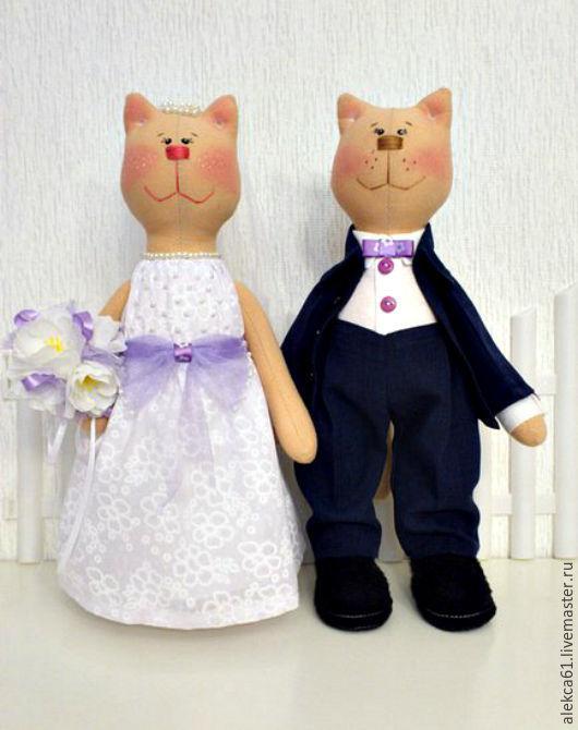 Подарки на свадьбу ручной работы. Ярмарка Мастеров - ручная работа. Купить Свадебные котики. Handmade. Белый, котик, фатин, мулине