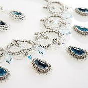 Украшения handmade. Livemaster - original item Necklace with Apatite and Swarovski crystals
