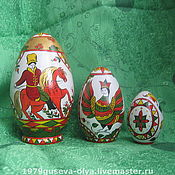 Яйца ручной работы. Ярмарка Мастеров - ручная работа яйцо-марёшка пасхальное (северодвинская роспись). Handmade.