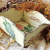 """Для дома и интерьера ручной работы. Ярмарка Мастеров - ручная работа """"Гортензии"""" сухарница. Handmade."""