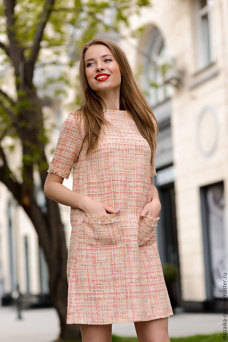 b815fa81bc2 Online shopping Dresses handmade. Order Dress in Chanel style champagne  color. mozaika-rus. Livemaster Dresses handmade.