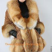 Одежда handmade. Livemaster - original item Stylish jacket lady suede with Fox fur. Handmade.