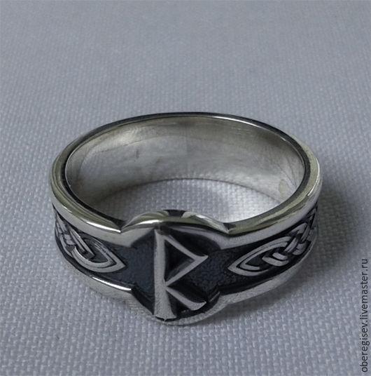 Кольцо с Руной Райдо из серебра с черением 4-6 грамм -1100руб. Под заказ 5дн.;