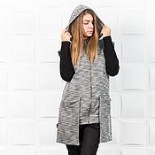 """Одежда handmade. Livemaster - original item Copy of Vest """" I love pockets"""" V0020. Handmade."""