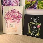 Картины и панно ручной работы. Ярмарка Мастеров - ручная работа Chanel N5. Handmade.