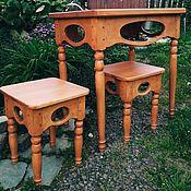 Для дома и интерьера handmade. Livemaster - original item Table of solid cedar with stools Kitchen. Handmade.