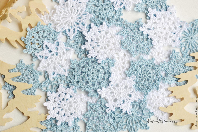 Snowflake crochet hook 4 cm, Scrapbooking Elements, Sosnovyj Bor,  Фото №1