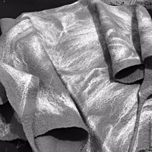 """Шарфы и шарфики ручной работы. Ярмарка Мастеров - ручная работа. Купить Бактус валяный """" Погода Питера"""". Handmade. Серый"""