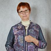 """Одежда ручной работы. Ярмарка Мастеров - ручная работа жакет валяный """"Пестрые сумерки"""". Handmade."""