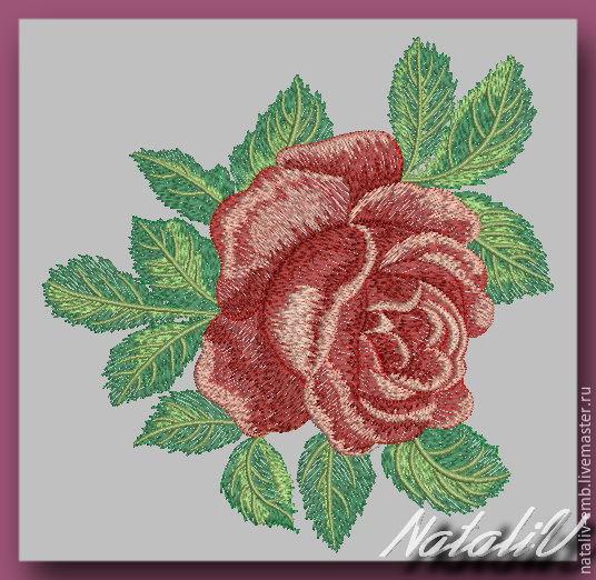 Розы вышивка машинная 56