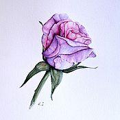 Картины и панно ручной работы. Ярмарка Мастеров - ручная работа картина акварелью Роза. Handmade.