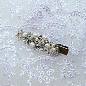 Украшения handmade. Livemaster - original item Pearl Vintage hair clip. Handmade.