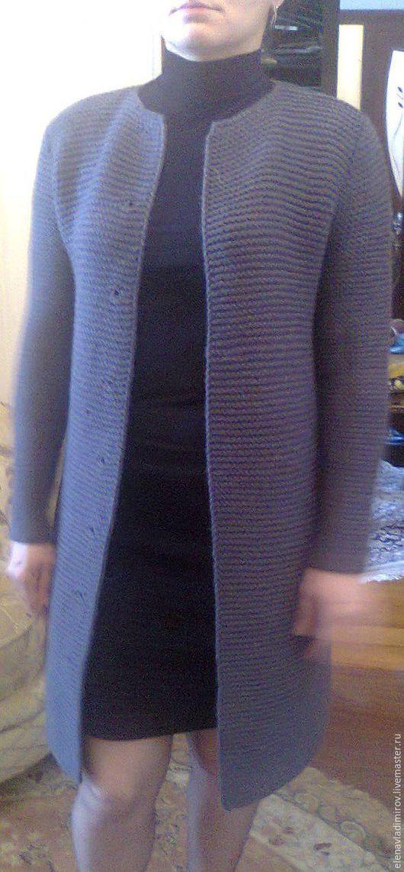 Верхняя одежда ручной работы. Ярмарка Мастеров - ручная работа. Купить Пальто вязаное. Handmade. Пальто, кардиган спицами